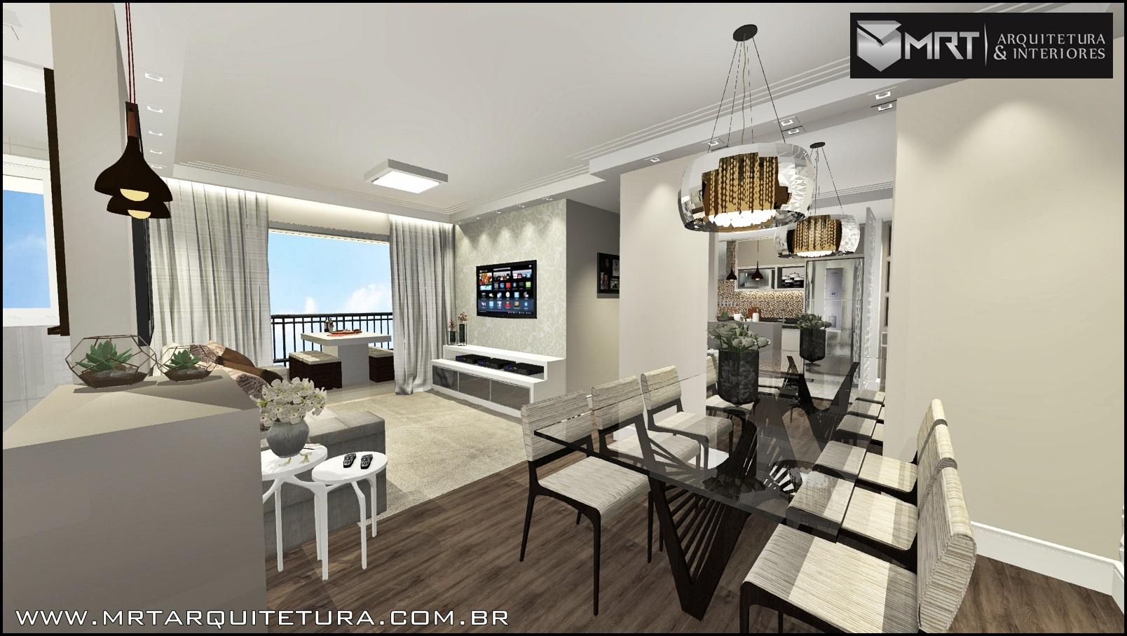 Decoração de Interiores em apto de 80m² – Cond. Bosque Ventura – Guarulhos